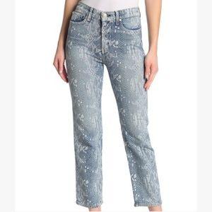 Rag & Bone mid rise ankle snake skin print jeans